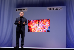 Jonghee Han, President of Visual Display Business bei Samsung, stellte den neuen Smart-TV vor.